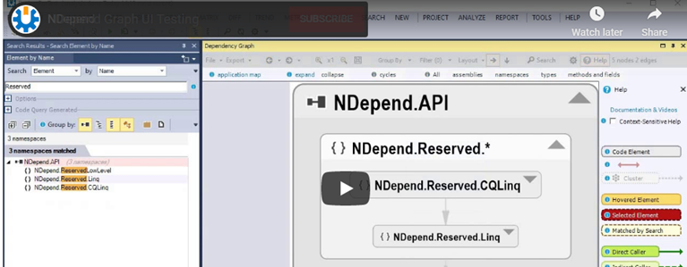 nDepend dotnet software testing