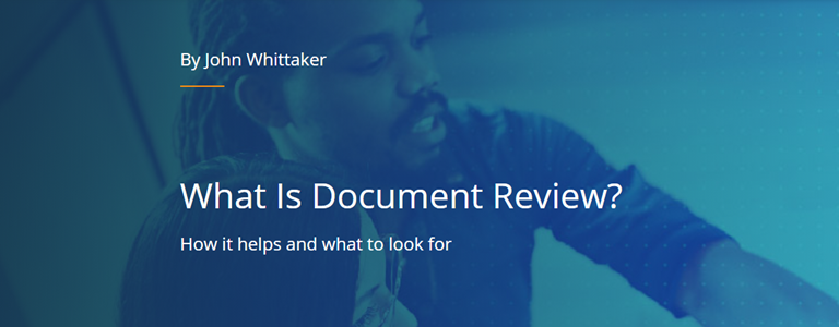 What is document review