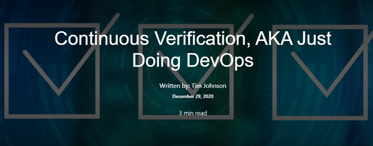 continuous verification